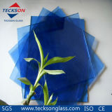 4-5mm Dark Blue/Deep Blue Tinted Float Glass with Ce&ISO9001