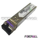 Single Mode 1.25gbps Single Fiber LC SFP Optical Transceiver 80km