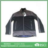 Popular Men's Soft Shell Jacket in Black and Grey Color