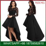 2018 Fashion Woman Party Black Long Formal Dress with Lace