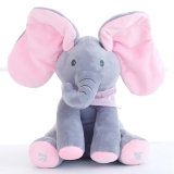 Plush Elephant Peek a Boo Electric Toy with Flapping The Ears with Talking