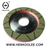 300mm Italy ANCORA Squaring Machine Resin-Bond Diamond Dry-Grinding Wheel (Working Layer With Flume)