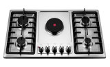 Fashion Black Color Electronic Stainless Steel LPG Gas 5 Stove Jeg5001e