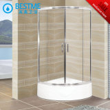 Bright Aluminum Shower Enclosure with Acrylic Tray (BL-Z3515)