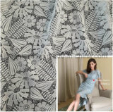Flowery Lace Fabric for Luxury Lady's Apparel