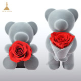 Elegant and Fascinating Gifts Preserved Red Rose Bear