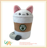 Soft Plush Cappucinno Cup Shape Cat Doll Toy