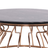 China Manufacturer Durable Marble Dining Table with Metal Frame