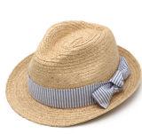 Top Quality Fashion Lady's Fedora Straw Sun Hat