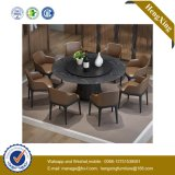 Edge Wooden Iron Crank Cheap Dining Furniture Solid Surface Dining Table (UL-9L0391)