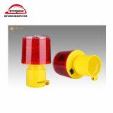 Yellow LED Solar Revolving Traffic Lamp Flashing Warning Light Wireless