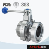 Stainless Steel Sanitary Male/Union End Butterfly Valve (JN-BV2008)