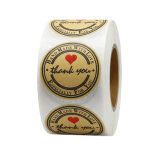 Custom Printed Paper Adhesive Packaging Label Roll Logo Kraft Paper Sticker
