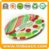 Round Metal Serving Tin Trays for Food Fruit