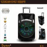 2600W Popular Bluetooth Wireless Active DJ Portable Rechargeable Battery Speaker