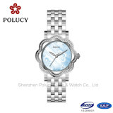 Stainless Steel Watch Free Size Bangle Watch Lady Dress Rhinestone Quartz Watch