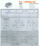 DC Motor Gear Motor 280 Diater 18mm 6V 12V Motor