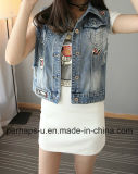 Korean Version Big Yards Patch Ripped Short Vest Women Clothes