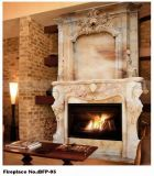 Hot Natural New Cream Beige Marble Surround Stone Fireplace for Indoor Decoration