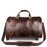 High quality Genuine Leather Trolley Travel Luggage Bag (RS-JM160810)