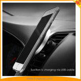 Magnetic Wireless Car Charger with Air Vent and Dashboard Mount for Smart Mobile Phones