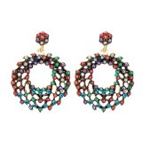Fashionable Hyperbolic Alloy Pearl Vintage Earring