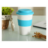 Wholesale Single Walled Ceramic Mug with Silicone Cover