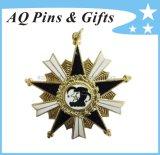 Metal Souvenir Police Badge with Diamond, Brooch (badge-020)