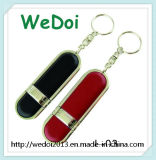 Best Seller Leather USB Flash Drive with Key Chain (WY-L03)