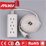 4 Meter Wire White Three Gang Multi Electric Cord Socket