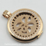 Custom Stainless Steel Fashion Coin Pendant Jewelry