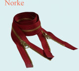 Metal Zipper with Double Sliders for Fashion Coats and Jackets