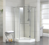 Luxury Bathroom 304 Stainless Steel Hardware Frameless Shower Enclosure