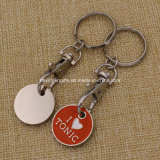 Custom Cheapest Keychain Metal Europe Token Nickel Free Trolly Coin
