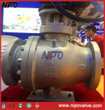 Cast Steel Flanged Trunnion Ball Valve with Gear Box