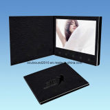Video Printing Cards Video Book Video Invitation Cards with Leather Cover (ID1001)