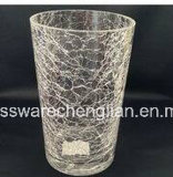 Hand Made Ice Crackle Glass Vase (V-027)