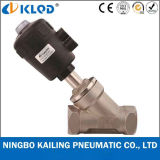 Dn40 Stainless Steel Angle Seat Valve for Steam Water Kljzf