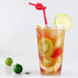 Custom Disposable Clear Plastic Juice Water Tea Coffee Cup