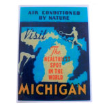 Newly Michigan Nature Air Conditionor Magnets for Refrigerator