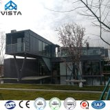 Free Designed Luxury Quality Portable Mobile Modular Prefab Prefabricated Steel Plastic Bank Office Accommodation Shipping Container on Site