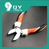 High Quality Diagonal Cutting Pliers with Three Color TPR Handle