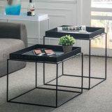 Metal Base Frame Simple Design Quare Coffee Sofa Side Table for Living Room