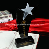 Fashion Wholesale Acrylic  Crystal  Award Trophy with Star