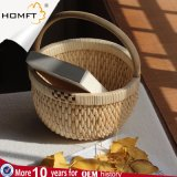 Home Retro Fashion Hand-Woven Basket Picnic Basket Straw Bag