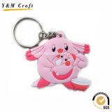 Animal Soft PVC Key Holder for Retail Market Ym1122
