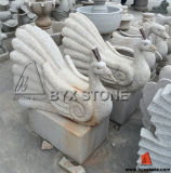 Granite Garden Decoration Swan Animal Sculpture / Swan Statue