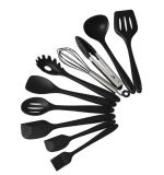 10PCS Silicone Kitchen Cooking Utensils Spatula Set Barking Tool Heat Resistant