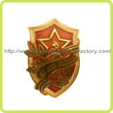 3D Gold Plating Souvenirs Badge (Hz 1001 B007)