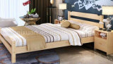 Solid Wooden Bed Modern Double Beds (M-X2227)